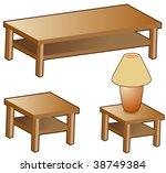 living room furniture isolated... | Shutterstock .eps vector #38749384