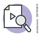 video search colored vector icon | Shutterstock .eps vector #387494875