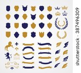 crests logo element set... | Shutterstock .eps vector #387496309