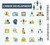 career development icons  | Shutterstock .eps vector #387498985