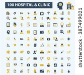hospital clinic icons  | Shutterstock .eps vector #387499021
