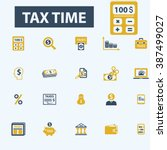 tax time icons  | Shutterstock .eps vector #387499027