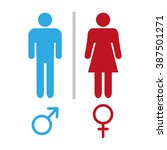 male and female symbol... | Shutterstock .eps vector #387501271