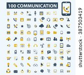 communication icons  | Shutterstock .eps vector #387503419