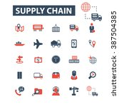 supply chain icons  | Shutterstock .eps vector #387504385