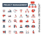 project management icons  | Shutterstock .eps vector #387505267