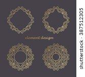 set vector design element.... | Shutterstock .eps vector #387512305