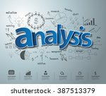 analysis text  with creative... | Shutterstock .eps vector #387513379