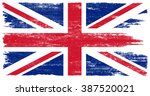 British Flag With Grunge...