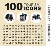 tourism and travel icons.... | Shutterstock .eps vector #387526954