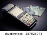 color image of a pos and credit ... | Shutterstock . vector #387528775