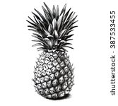 pineapple drawing | Shutterstock . vector #387533455