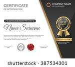 vector certificate template. | Shutterstock .eps vector #387534301