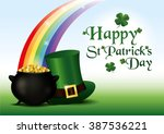 st. patrick's day background.... | Shutterstock .eps vector #387536221