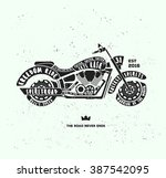 vector vintage black and white... | Shutterstock .eps vector #387542095