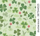 vector seamless pattern with... | Shutterstock .eps vector #387544525