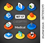 isometric flat icons  3d... | Shutterstock .eps vector #387550195
