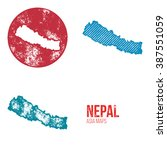 nepal grunge retro maps   asia  ...   Shutterstock .eps vector #387551059