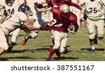 american football game with out ... | Shutterstock . vector #387551167
