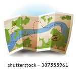 earth map icon  illustration of ... | Shutterstock .eps vector #387555961