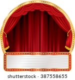 vector circle stage with bulb... | Shutterstock .eps vector #387558655