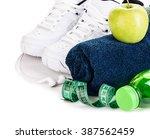 fitness concept. weight loss... | Shutterstock . vector #387562459