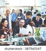 business people meeting... | Shutterstock . vector #387565147