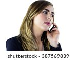 woman using smartphone on white ... | Shutterstock . vector #387569839