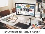 seo search engine optimization... | Shutterstock . vector #387573454