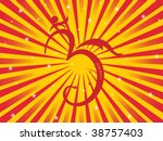 abstract rays background with... | Shutterstock .eps vector #38757403