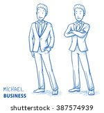 young man in business suit... | Shutterstock .eps vector #387574939