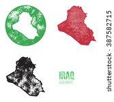 iraq grunge retro maps   asia   ... | Shutterstock .eps vector #387582715