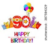 happy birthday card.... | Shutterstock .eps vector #387584329