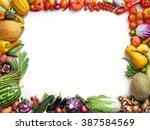 organic food background. food...   Shutterstock . vector #387584569