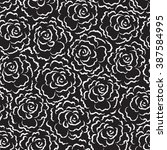 floral seamless roses pattern.... | Shutterstock .eps vector #387584995