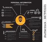resume  cv  template... | Shutterstock .eps vector #387593101