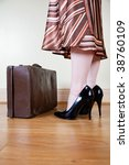 brown vintage suitcases and... | Shutterstock . vector #38760109