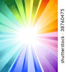 festive rays with many stars.... | Shutterstock .eps vector #38760475