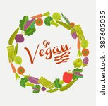 vegan card | Shutterstock .eps vector #387605035