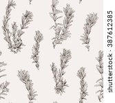 seamless vector pattern with... | Shutterstock .eps vector #387612385