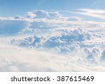 cloudscape blue sky and white... | Shutterstock . vector #387615469
