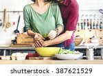 couple cooking hobby lifestyle... | Shutterstock . vector #387621529