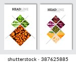 Business brochure design template. Vector flyer layout, blur background with elements for magazine, cover, poster design. A4 size. | Shutterstock vector #387625885
