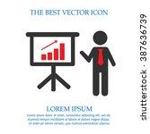 businessman meeting simple... | Shutterstock .eps vector #387636739