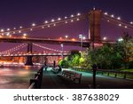 brooklyn bridge and the lower... | Shutterstock . vector #387638029