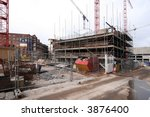 Construction site taken in Liverpool July 2007 - stock photo