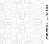 seamless geometric pattern.... | Shutterstock .eps vector #387645265