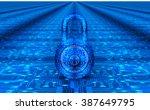 digital safety concept padlock