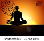 international yoga day  yoga... | Shutterstock .eps vector #387651841