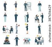 public speaking skills flat... | Shutterstock .eps vector #387656629